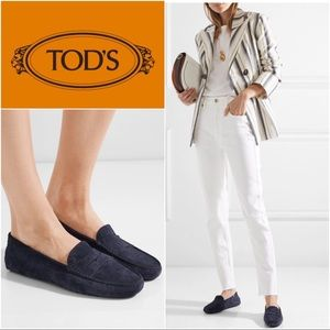 Tods | Iconic Gommini Purple Suede Loafers 37